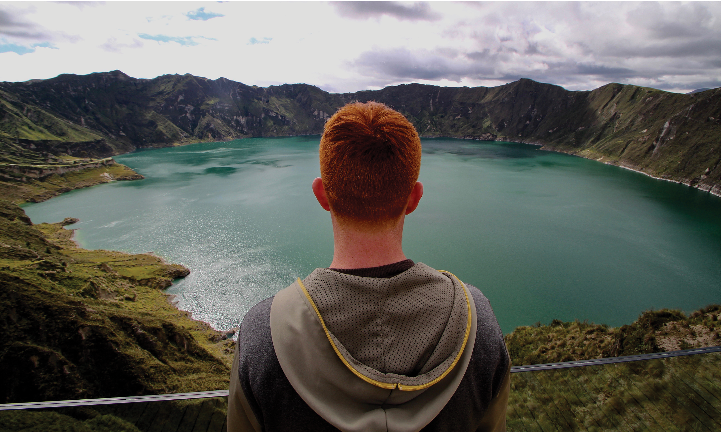 Image of a student overlooking a panorama in South Africa